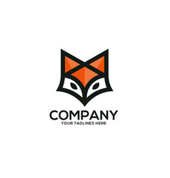 creative fox head logo vector image
