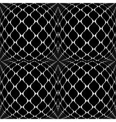 Design seamless warped grid geometric pattern vector