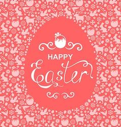 Easter card egg vector