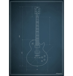 electric guitar blueprint vector image