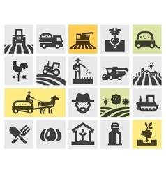 Farming icons set vector