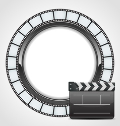 film clap background vector image