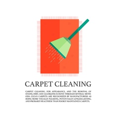 flat carpet cleaning concept vector image vector image