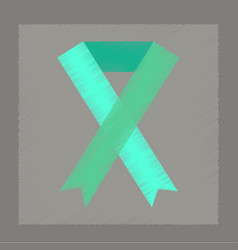 Flat shading style icon gay hiv ribbon vector