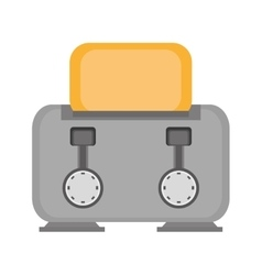 gray toaster breakfast appliance house vector image vector image