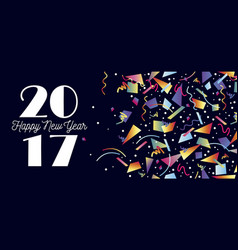 Happy new year 2017 party celebration web header vector