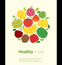 Healthy food background with fruits vector