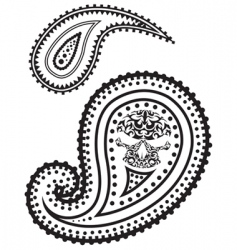 illustration of paisley pattern vector image vector image
