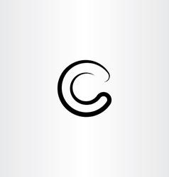 Letter c black symbol element sign logo vector