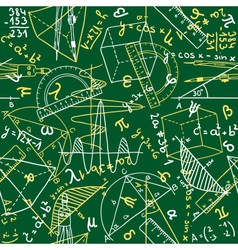 Mathematics seamless pattern vector image vector image