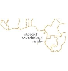 Sao tome and principe hand-drawn sketch map vector