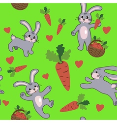 Seamless pattern with rabbit vector image vector image