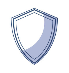 shadow shield cartoon vector image