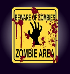 Sign of zombie area zombie hand silhouette vector