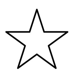 star line icon vector image vector image