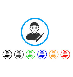 Surgeon rounded icon vector