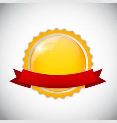 Template Golden Label vector image