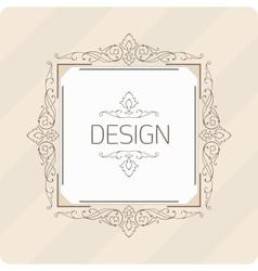Template vintage frame vector