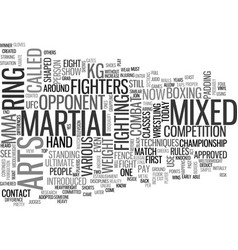 What is mixed martial arts text word cloud concept vector