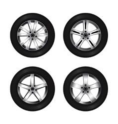 Wheel and tire set for transport or service design vector