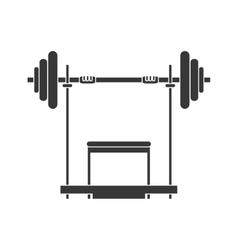 Weight healthy lifestyle gym design vector