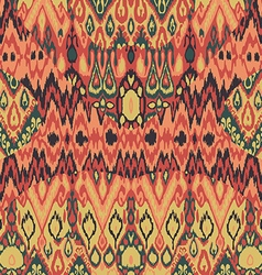 Ethnic tribal carpet plaid pattern fabric wrapping vector
