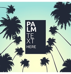 Palm trees card vector