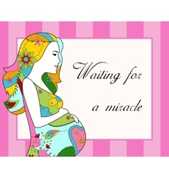 Waiting for a miracle card vector image