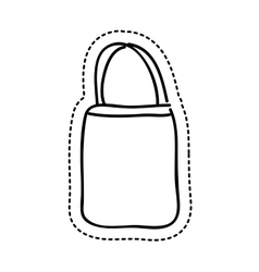 bag female drawing icon vector image
