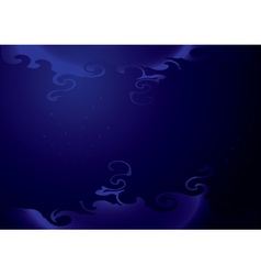 background - dark blue with curly elements vector image