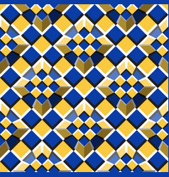 Moving truncated pyramids on a checkered surface vector