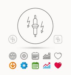 Spark plug icon car electric part sign vector