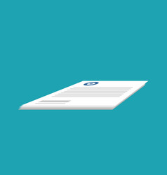 Documents isolated stack of paper forms business vector