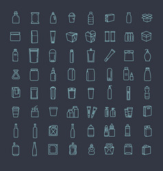 Bottle packaging collection - vector