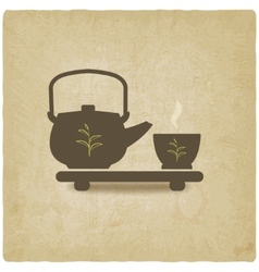 Tea ceremony old background vector