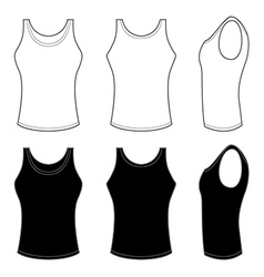 Mans top tank in black and white vector