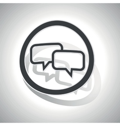 Chat sign sticker curved vector