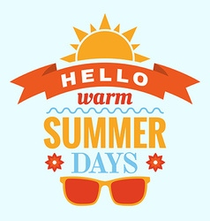 Summer typography vector
