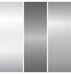 Set of polished metallic surface vector image