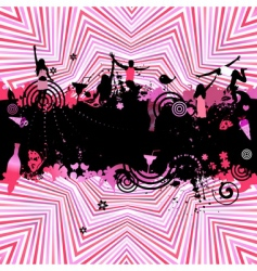 party background for your design vector image