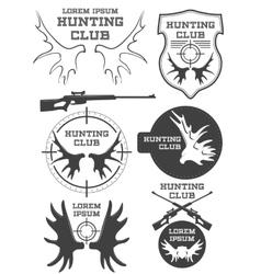 Set of vintage hunting logo labels and badges vector