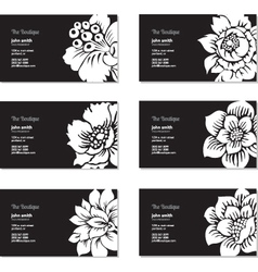 Floral business cards vector