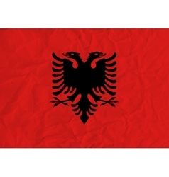 Albania paper flag vector
