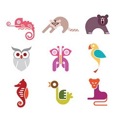 Animal icon set vector