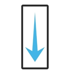 Arrow down framed icon vector