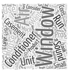Casement window air conditioner word cloud concept vector