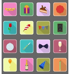 celebration flat icons 19 vector image vector image