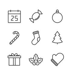 christmas line icon vector image