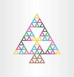 christmas tree happy new year symbol witg vector image vector image