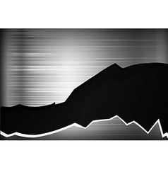 Dark chrome black and grey broken background vector image vector image